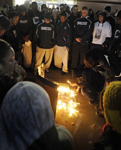 Vigil for Jasper Howard   Courtesy of the Hartford Courant